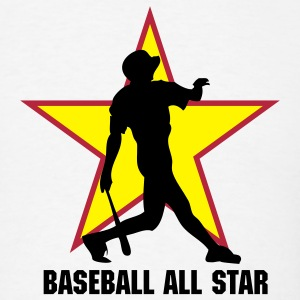 White baseball ALL STAR team T-Shirts - Men's T-Shirt