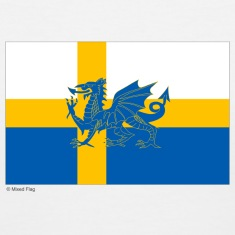 Sweden Wales Mixed Flag