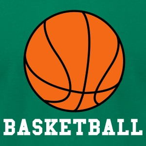Kelly green Basketball. Make your own Design T-Shirts - Men's T-Shirt by American Apparel