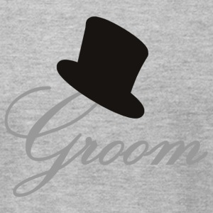 Heather grey Groom T-Shirts - Men's T-Shirt by American Apparel