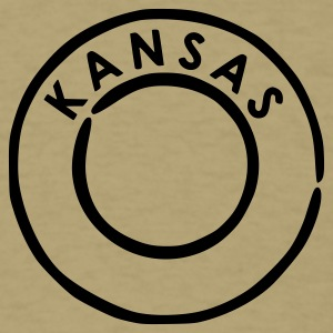 Khaki Kansas T-Shirts - Men's T-Shirt
