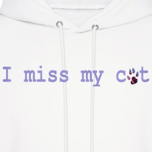 White I MISS MY CAT Hoodies - Men's Hoodie