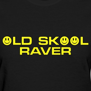 Black Old Skool Raver 2 Women's T-Shirts - Women's T-Shirt