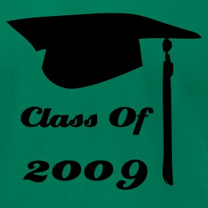 Kelly green graduation cap class of  T-Shirts - Men's T-Shirt by American Apparel