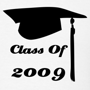 White graduation cap class of  T-Shirts - Men's T-Shirt