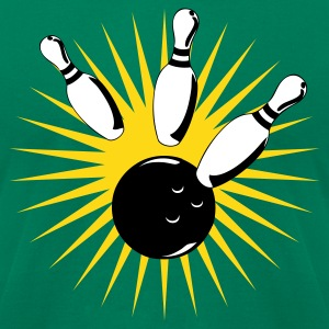 Kelly green bowling ball bowling strike T-Shirts - Men's T-Shirt by American Apparel