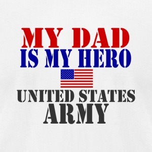 White DAD HERO ARMY T-Shirts - Men's T-Shirt by American Apparel