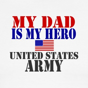 White/red DAD HERO ARMY T-Shirts - Men's Ringer T-Shirt