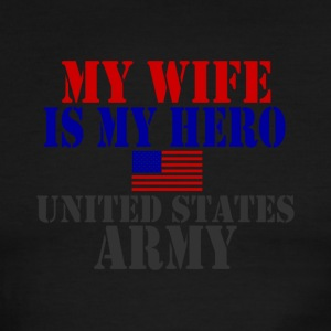 White/red WIFE HERO ARMY T-Shirts - Men's Ringer T-Shirt