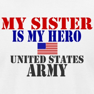 White SISTER HERO ARMY T-Shirts - Men's T-Shirt by American Apparel