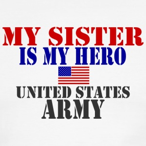 White/red SISTER HERO ARMY T-Shirts - Men's Ringer T-Shirt