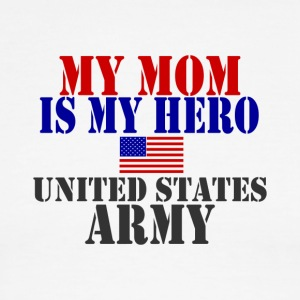 White/red MOM HERO ARMY T-Shirts - Men's Ringer T-Shirt