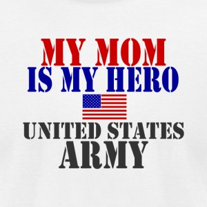White MOM HERO ARMY T-Shirts - Men's T-Shirt by American Apparel