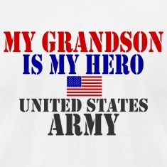 White GRANDSON HERO ARMY T-Shirts