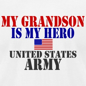 White GRANDSON HERO ARMY T-Shirts - Men's T-Shirt by American Apparel