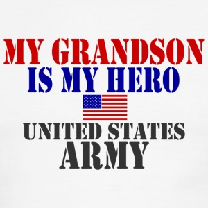 White/red GRANDSON HERO ARMY T-Shirts - Men's Ringer T-Shirt
