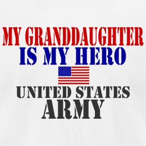 White GRANDDAUGHTER HERO ARMY T-Shirts - Men's T-Shirt by American Apparel