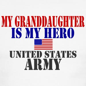 White/red GRANDDAUGHTER HERO ARMY T-Shirts - Men's Ringer T-Shirt
