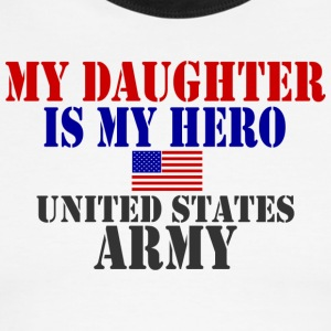 White/navy DAUGHTER HERO ARMY T-Shirts - Men's Ringer T-Shirt