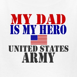 White DAD HERO ARMY Kids' Shirts - Kids' T-Shirt