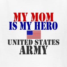 White MOM HERO ARMY Kids' Shirts