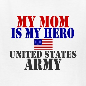 White MOM HERO ARMY Kids' Shirts - Kids' T-Shirt