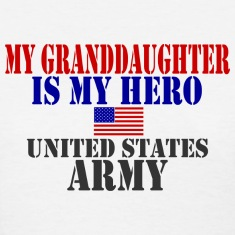 White GRANDDAUGHTER HERO ARMY Women's T-Shirts