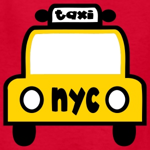 Red Taxi Cab NYC Retro Kids' Shirts - Kids' T-Shirt