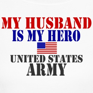 White HUSBAND HERO ARMY Long Sleeve Shirts - Women's Long Sleeve Jersey T-Shirt