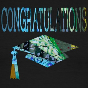 White/navy CONGRATULATIONS GRADUATE T-Shirts - Men's Ringer T-Shirt