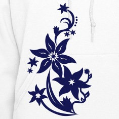 White Flower Hooded Sweatshirts