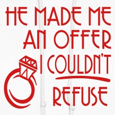 White He Made Me An Offer I Couldn't Refuse Hooded Sweatshirts