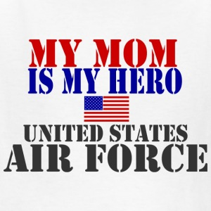 White MOM HERO USAF Kids' Shirts - Kids' T-Shirt