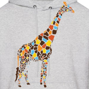 Ash  Colorful Giraffe Hoodies - Men's Hoodie
