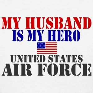 White HUSBAND HERO USAF Women's T-Shirts - Women's T-Shirt