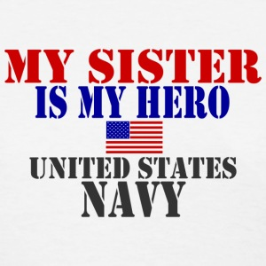 White SISTER HERO NAVY Women's T-Shirts - Women's T-Shirt