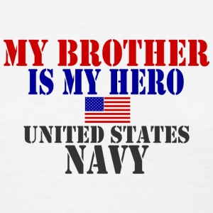 White BROTHER HERO NAVY Women's T-Shirts - Women's T-Shirt