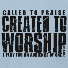 created to worship tee