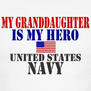 White/red GRANDDAUGHTER HERO NAVY T-Shirts - Men's Ringer T-Shirt
