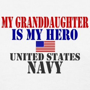White GRANDDAUGHTER HERO NAVY Women's T-Shirts - Women's T-Shirt