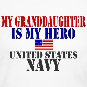 White GRANDDAUGHTER HERO NAVY Long Sleeve Shirts - Women's Long Sleeve Jersey T-Shirt