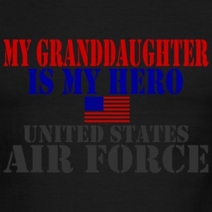 White/red GRANDDAUGHTER HERO USAF T-Shirts - Men's Ringer T-Shirt