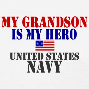 White GRANDSON HERO US NAVY Women's T-Shirts - Women's T-Shirt