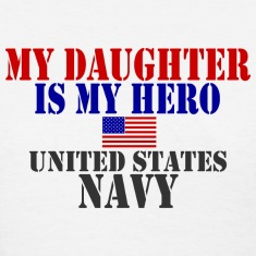 White DAUGHTER HERO US NAVY Women's T-Shirts