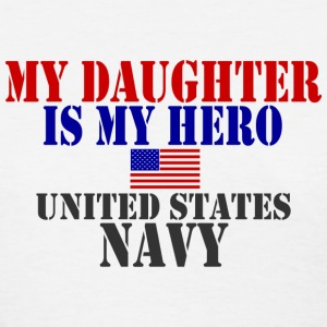 White DAUGHTER HERO US NAVY Women's T-Shirts - Women's T-Shirt