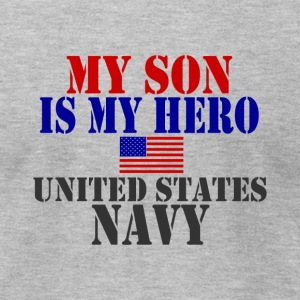 Heather grey SON HERO US NAVY T-Shirts - Men's T-Shirt by American Apparel