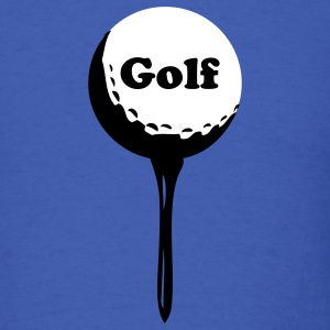 Royal blue golf ball and tee T-Shirts - Men's T-Shirt