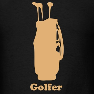Black golf bag T-Shirts - Men's T-Shirt