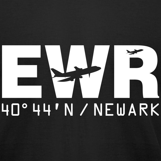 Newark Airport Code EWR Solid Men's T-shirt Black
