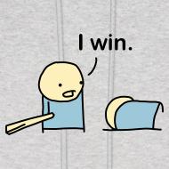 Design ~ I Win. men's hoodie